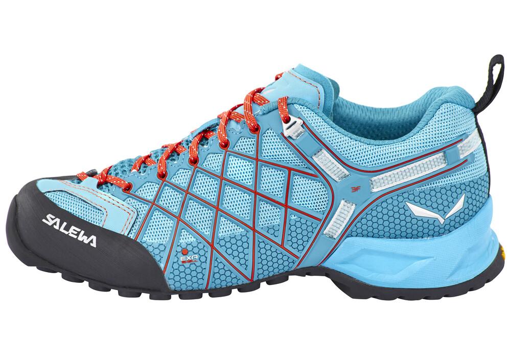 Salewa Wildfire Vent Approach Shoes Women river blue/clementine 38 2017 Trekking- & Wanderschuhe RcCv1